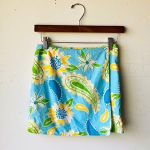 Lilly Pulitzer Reversible Monkey & Floral Skirt